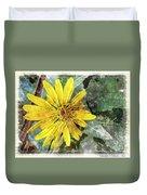 Yellow Wildflower Photoart Duvet Cover