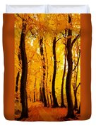 Yellow Wood Duvet Cover