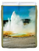 Yellowstone Geysers Duvet Cover