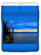 Yellowstone Lake Sunrise Duvet Cover