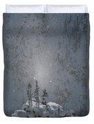 Yellowstone National Park, Winter View Duvet Cover