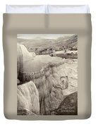 Yellowstone Park: Mammoth Duvet Cover