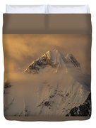 Yerupaja Summit Ridge 6617m At Sunset Duvet Cover