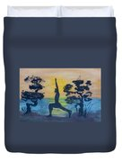 Yoga High Lunge Pose  Duvet Cover