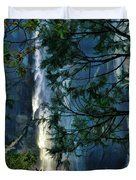 Yosemite Falls Through Trees Duvet Cover