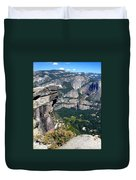 Yosemite Valley From Glacier Point Duvet Cover