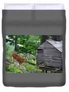 Young Buck At Treehouse Hopatcong Duvet Cover
