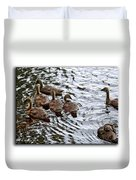 Young Geese Duvet Cover