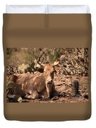 Young Longhorn Steer Duvet Cover