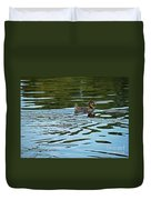 Young Male Garganey Duvet Cover