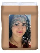 Young Palestinian In Traditional Dress In Bethlehem Duvet Cover