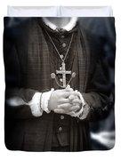 Young Renaissance Priest Duvet Cover