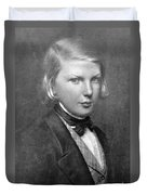 Young Victor Hugo, French Author Duvet Cover
