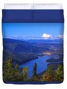 Yukon River In Fall Colors Duvet Cover