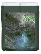 Zaca Fire In Southern California Duvet Cover