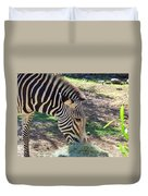 Zebra At Lunch Duvet Cover