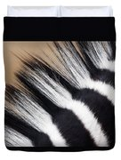 Zebra Equus Quagga Mane, Khama Rhino Duvet Cover