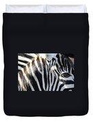 Zebra Face  Duvet Cover