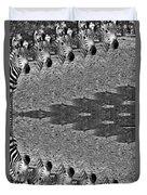 Zebra Half-circle Duvet Cover