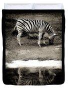 Zebra Reflection  Duvet Cover