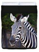 Zebra Symmetry  Duvet Cover