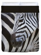 Zebras Close Up Duvet Cover