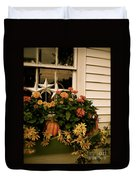 Zinnias In The Window Box  Duvet Cover
