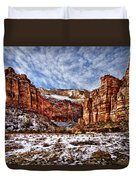 Zion Canyon In Utah Duvet Cover