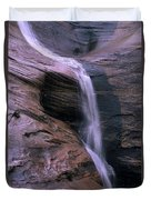 Zion Summer Waterfall Duvet Cover