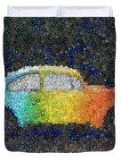 Zodiac Vw Bug Mosaic Duvet Cover