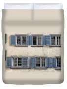 Zurich Window Shutters Duvet Cover