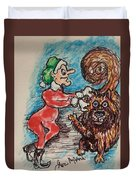 A Elf And Her Dog Duvet Cover