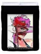 # 39 Charlize Theron Portrait Duvet Cover