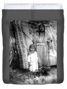 American Indian Woman Female Daughter 1890s Duvet Cover