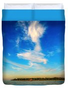 Angel  Walking On Air  Duvet Cover