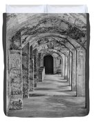 Archway At Moravian Pottery And Tile Works In Black And White Duvet Cover