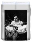 Baby In Chair 1910s Black White Archive Boy Kids Duvet Cover