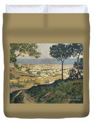 Barcelona Seen From Vallvidrera Duvet Cover