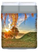 Birches At Sunrise  Duvet Cover