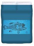 Black Sea Bass - Rockfish - Grouper Duvet Cover