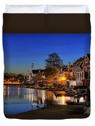 Boathouse Row  Duvet Cover