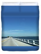 Bridge Over The Sea Duvet Cover
