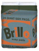 Brillo Box Colored 16 - Warhol Inspired Duvet Cover
