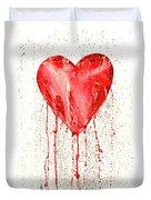 Broken Heart - Bleeding Heart Duvet Cover