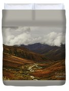 Brooks Range, Dalton Highway And The Trans Alaska Pipeline  Duvet Cover