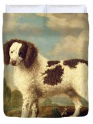 Brown And White Norfolk Or Water Spaniel Duvet Cover by George Stubbs