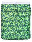 Cannabis   Hemp  420   Marijuana  Pattern Duvet Cover