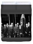 Civil War Veterans October 8 1923 Black White Duvet Cover