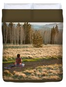 Contemplative Meditation Duvet Cover
