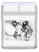 Cowgirl Riding A Hourse Duvet Cover